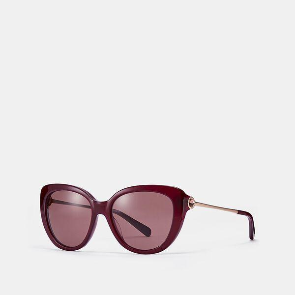 Jessa Cat Eye Sunglasses, PURPLE, hi-res