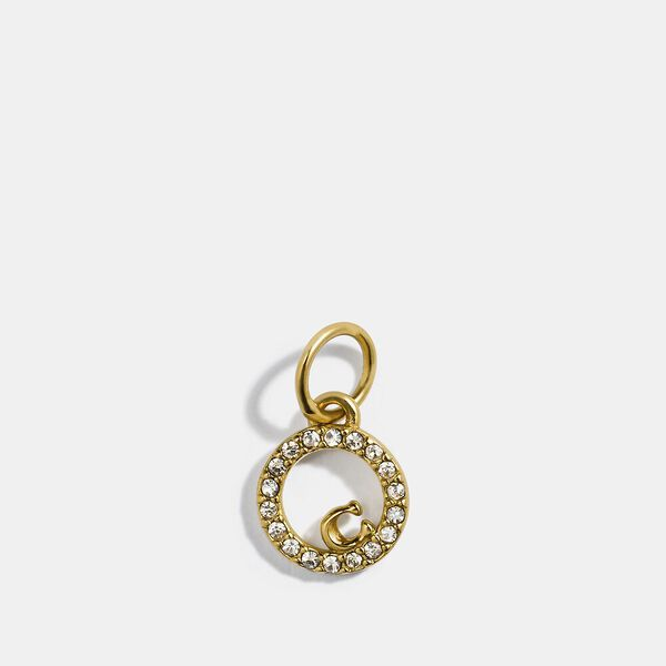 Collectible Eternity Circle Pave Charm, GOLD, hi-res