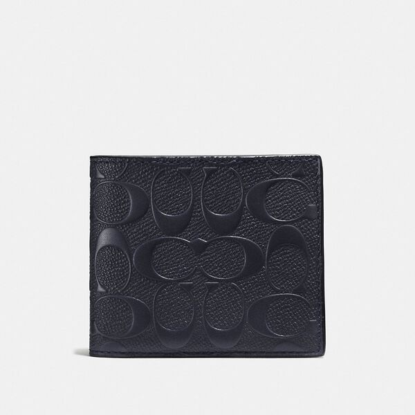 3-In-1 Wallet In Signature Leather, MIDNIGHT, hi-res