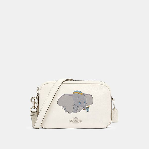 Disney X Coach Jes Crossbody In Signature Canvas With Dumbo, SV/CHALK KHAKI MULTI, hi-res