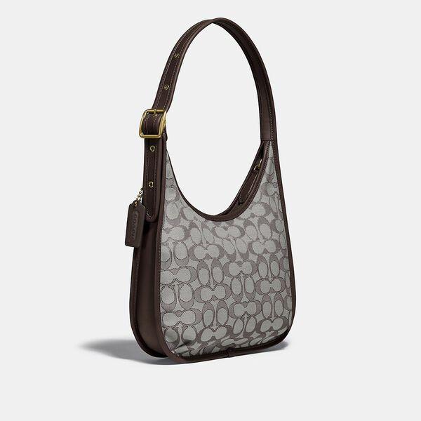 Ergo Shoulder Bag In Signature Jacquard, B4/OAK MAPLE, hi-res