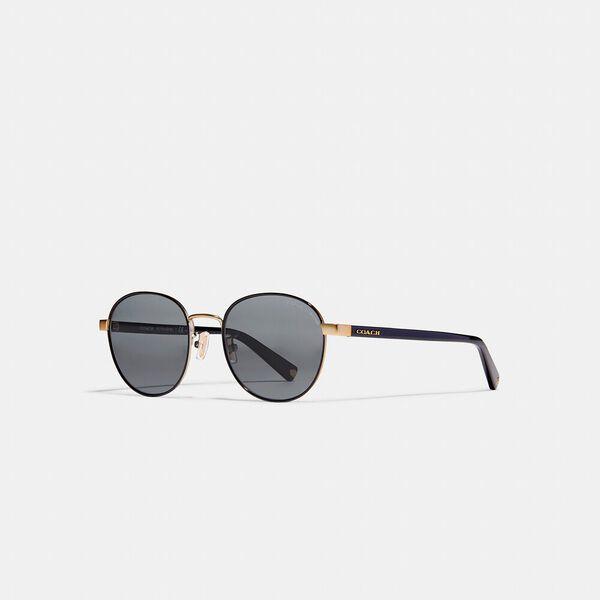 Signature Workmark Round Sunglasses, LIGHT GOLD / BLACK, hi-res