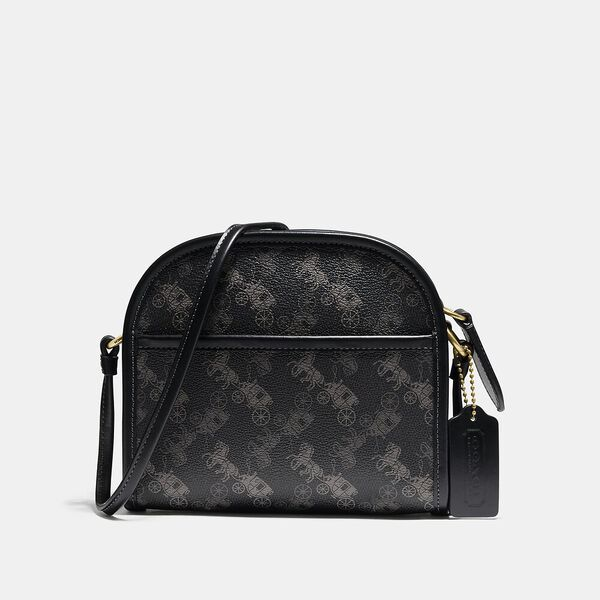Zip Crossbody With Horse And Carriage Print