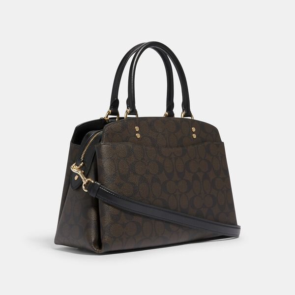 Lillie Carryall In Signature Canvas, IM/BROWN/BLACK, hi-res