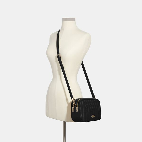 Jes Crossbody With Linear Quilting, IM/BLACK, hi-res