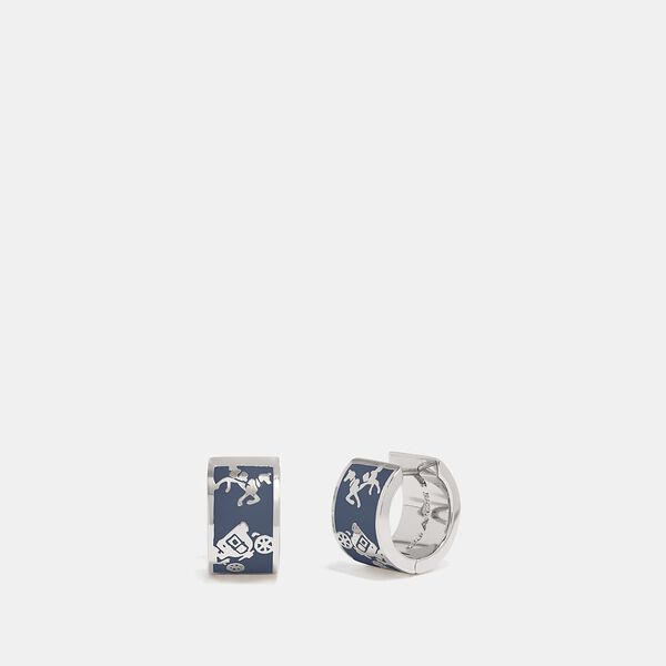 Horse And Carriage Huggie Earrings
