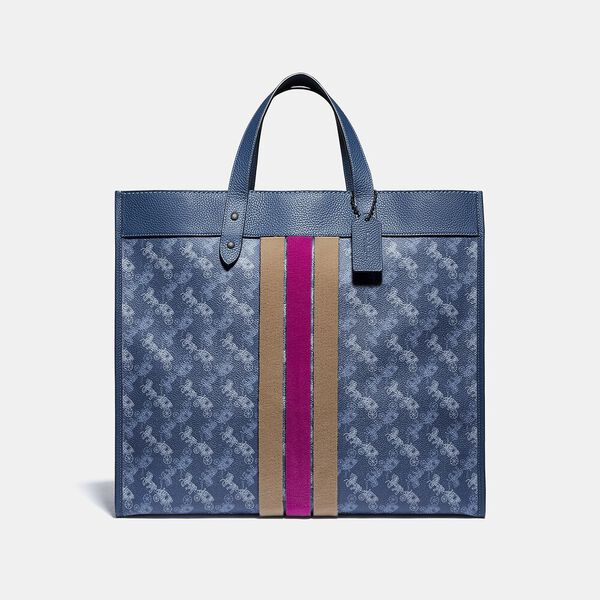 Field Tote 40 With Horse And Carriage Print And Varsity Stripe
