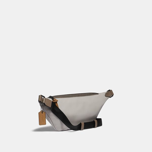 Rivington Belt Bag In Colorblock With Coach Patch, JI/WASHED STEEL, hi-res