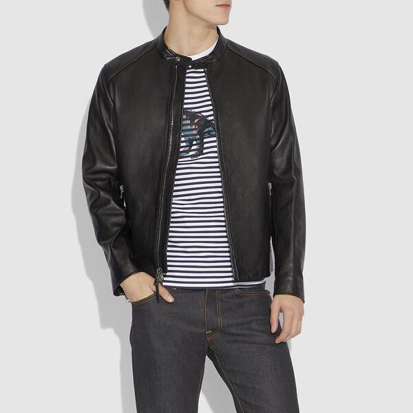 Leather Racer, BLACK, hi-res