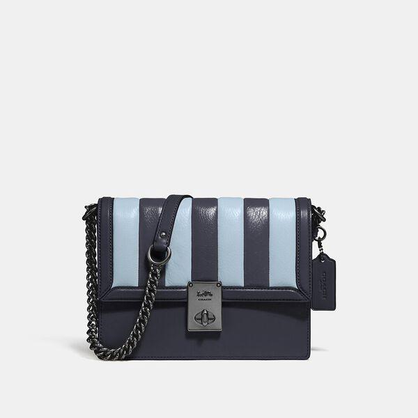 Hutton Shoulder Bag With Colorblock Quilting, V5/MIDNIGHT NAVY MULTI, hi-res
