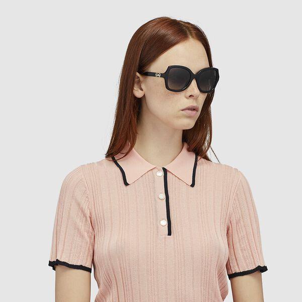 Horse And Carriage Geometric Sunglasses