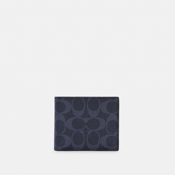 3-In-1 Wallet In Colorblock Signature Canvas