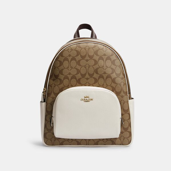 Large Court Backpack In Signature Canvas