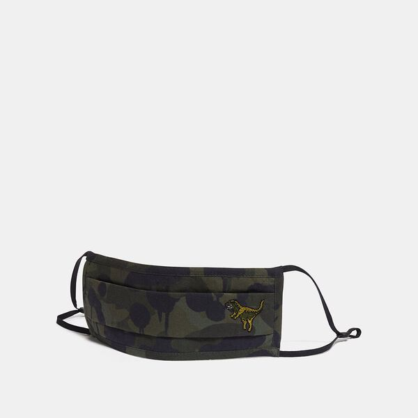 Rexy Face Mask With Wild Beast Print, GREEN/BLACK, hi-res