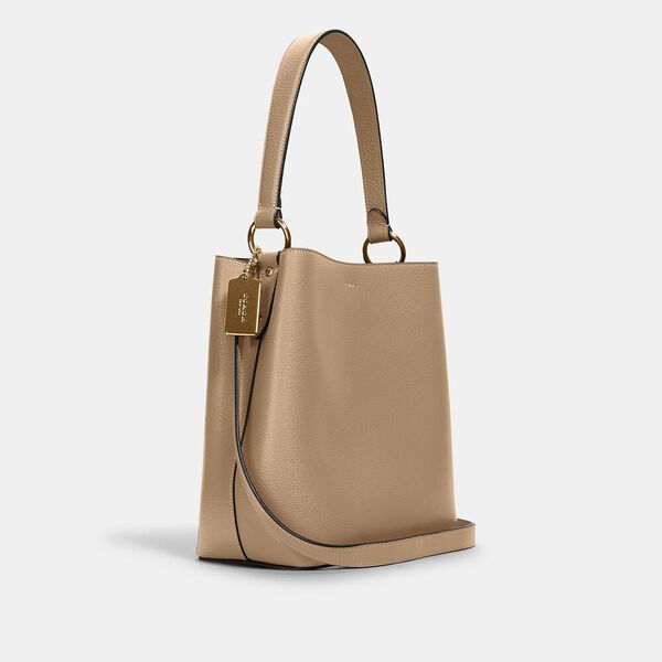 Town Bucket Bag, IM/TAUPE OXBLOOD, hi-res