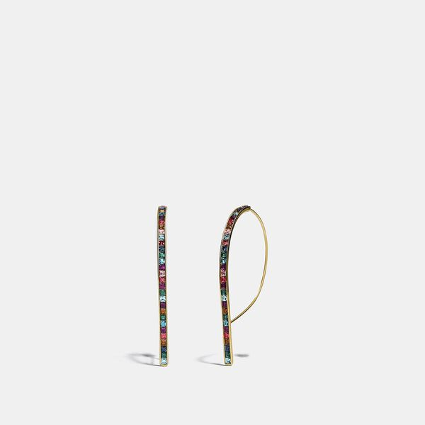 Legacy Rainbow Rounded Bar Drop Earrings, GD/LEGACY MULTI, hi-res