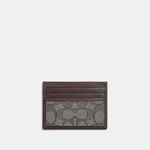 Card Case In Signature Jacquard