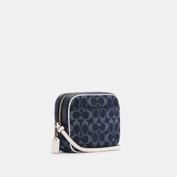 Mini Camera Bag In Signature Jacquard, IM/DENIM MULTI, hi-res