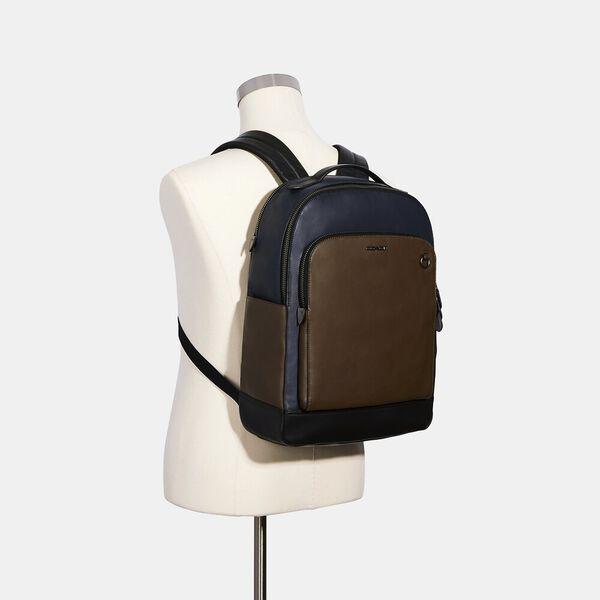 Graham Backpack In Colorblock Signature Canvas, QB/MIDNIGHT MULTI, hi-res