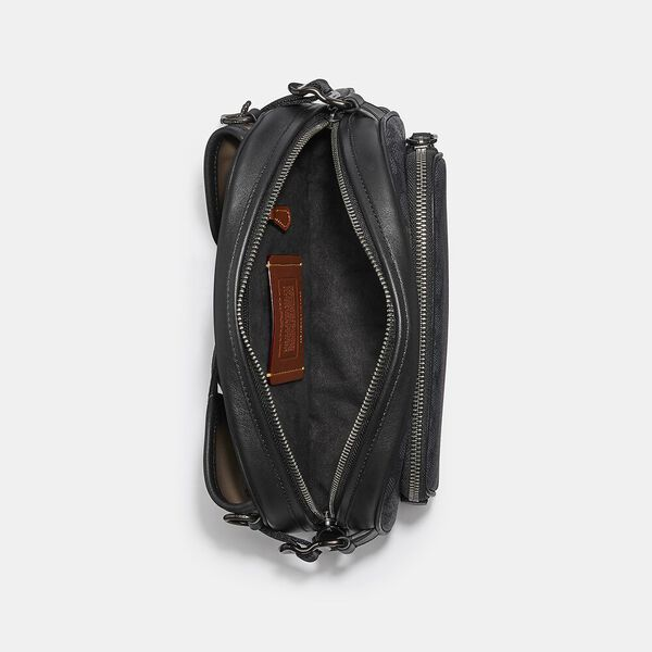 Hitch Belt Bag In Signature Canvas With Horse And Carriage Print, JI/BLUE STEEL MULTI, hi-res