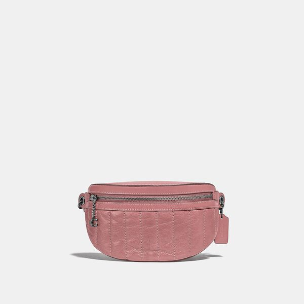 Chain Belt Bag With Quilting, V5/VINTAGE PINK, hi-res