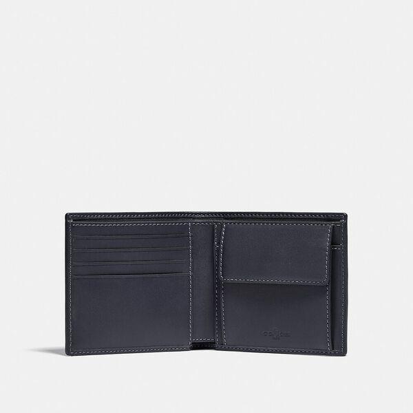 BAPE x Coach Coin Wallet In Signature Chambray, V5/CHAMBRAY, hi-res