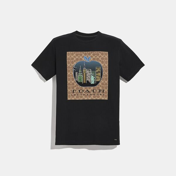 Apple Signature T-Shirt, BLACK, hi-res