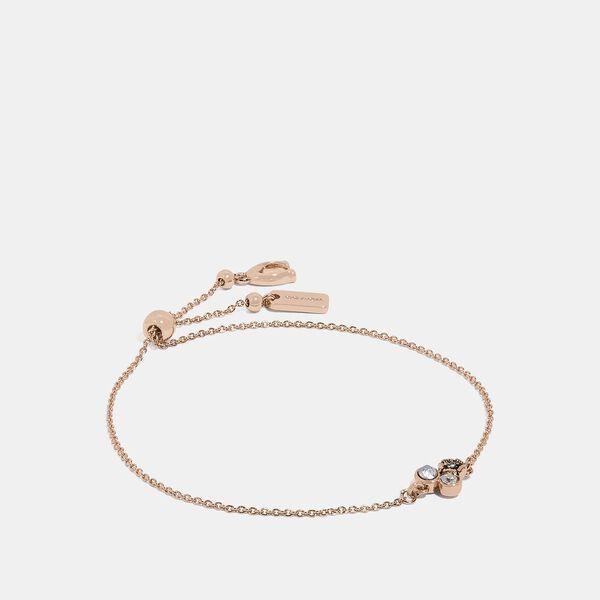Mini Tea Rose Cluster Slider Bracelet, ROSE GOLD, hi-res