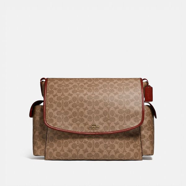 Baby Messenger Bag In Signature Canvas