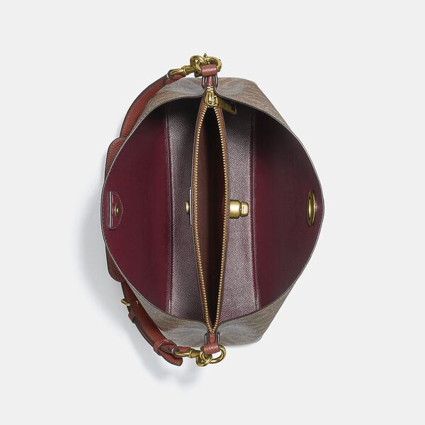 Willow Shoulder Bag In Signature Canvas, B4/TAN RUST, hi-res