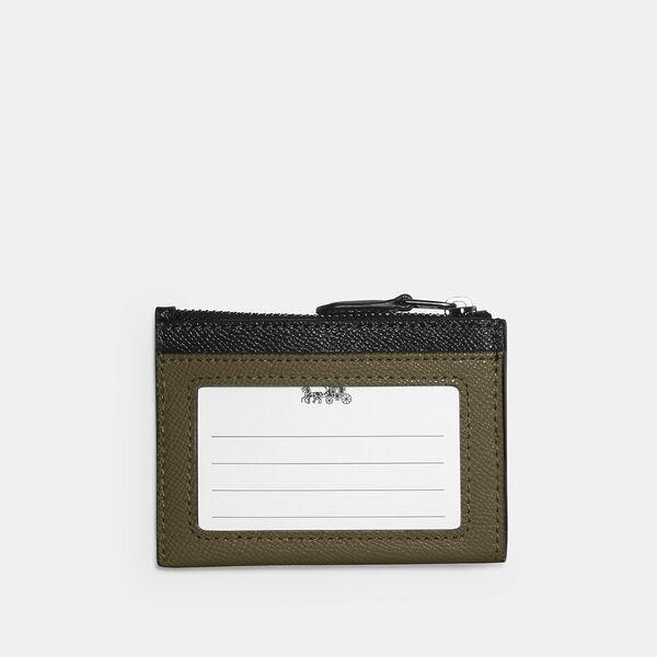 Mini Skinny Id Case In Colorblock, QB/KELP MULTI, hi-res