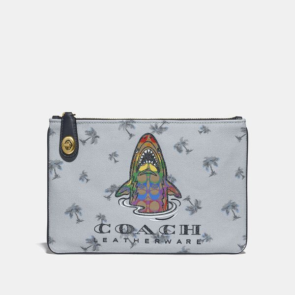 Turnlock Pouch 26 With Rainbow Signature Sharky, B4/MULTI, hi-res