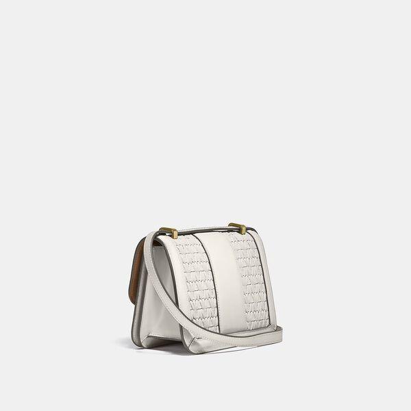 Alie Shoulder Bag 18 With Weaving, B4/IVORY, hi-res