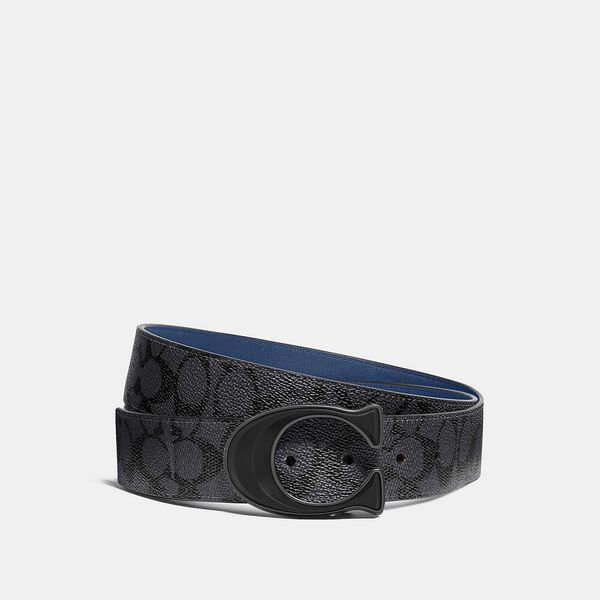 Signature Buckle Cut-To-Size Reversible Belt In Signature Canvas