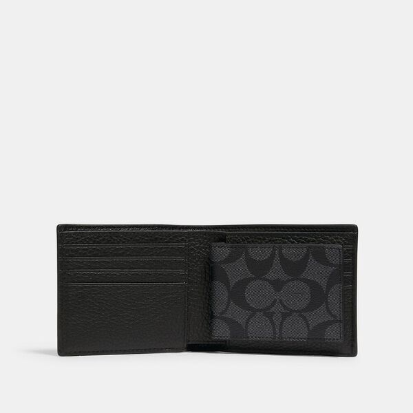Coach x Marvel 3-In-1 Wallet With Signature Canvas Detail And Coach Bubble, QB/CHARCOAL/BLACK, hi-res