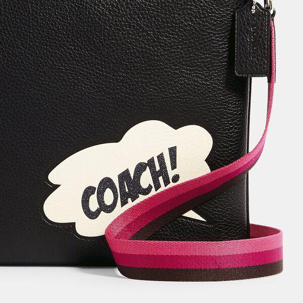 Coach x Marvel Jes Slim Crossbody With Coach Bubble, SV/BLACK MULTI, hi-res