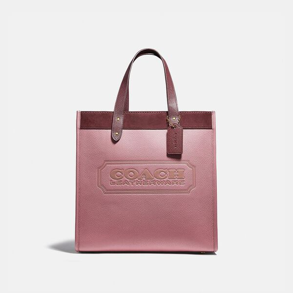 Field Tote In Colorblock With Coach Badge
