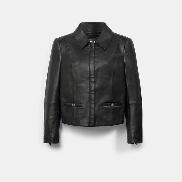 Feminine Leather Jacket
