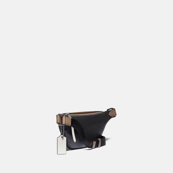 Rivington Belt Bag 7 In Signature Canvas With Coach Patch, JI/KHAKI/BROWN MULTI, hi-res