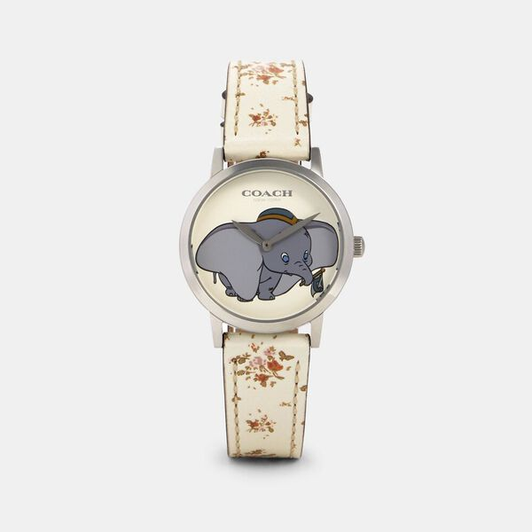 Disney X Coach Chelsea Watch With Dumbo, 32Mm, CHALK, hi-res