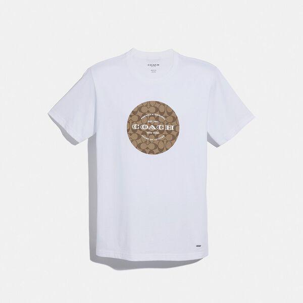 Coach Signature T-Shirt, WHITE, hi-res