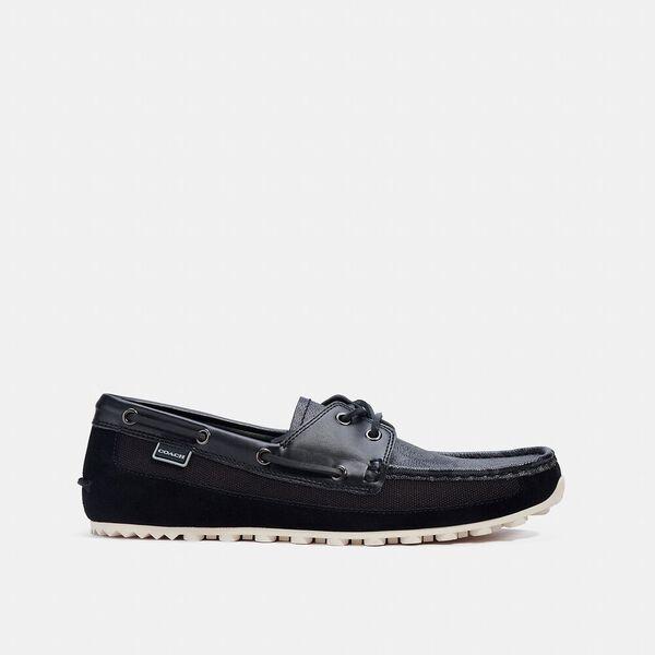 Boat Shoe, CHARCOAL BLACK, hi-res