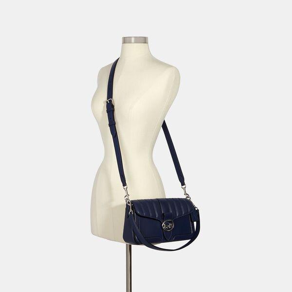 Georgie Shoulder Bag With Quilting, SV/COBALT, hi-res