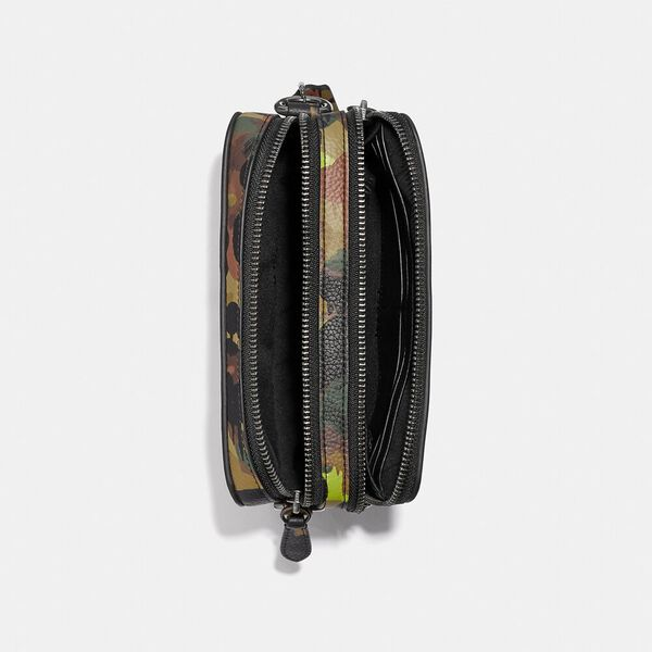 Charter Crossbody With Hybrid Pouch With Camo Print, NEON/YELLOW/BROWN, hi-res