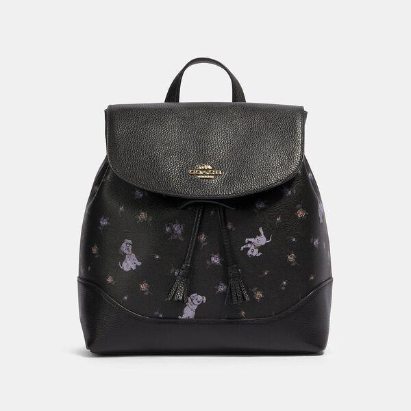 Disney X Coach Elle Backpack With Dalmatian Floral Print
