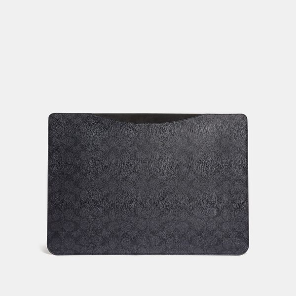 Laptop Sleeve In Signature Canvas, CHARCOAL, hi-res