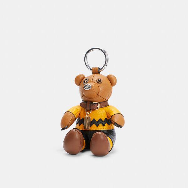 Coach X Peanuts Charlie Brown Bear Collectible Bag Charm