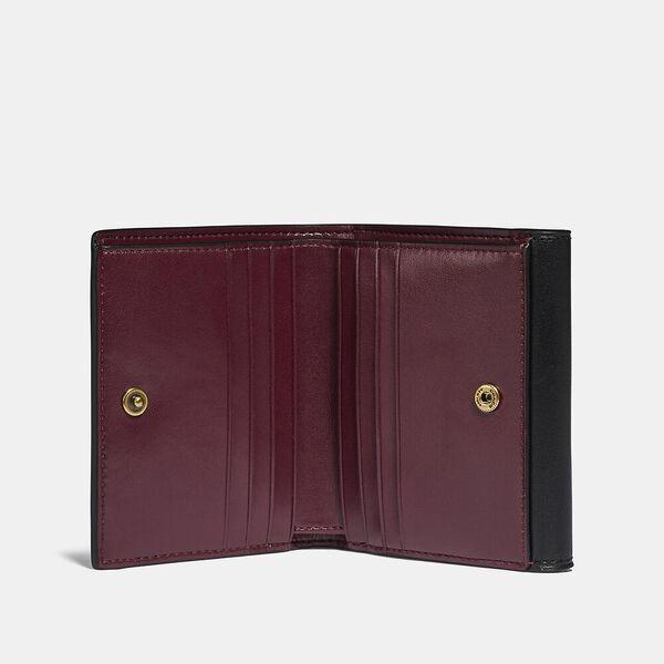 Tabby Small Wallet In Colorblock Signature Canvas, B4/TAN BLACK, hi-res