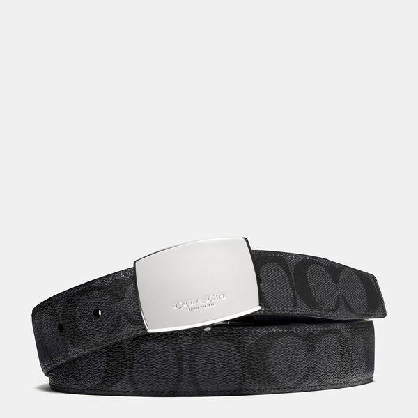 Plaque Buckle Cut-To-Size Reversible Dress Belt, 30mm
