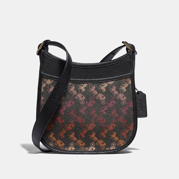 Emery Crossbody 21 With Horse And Carriage Print